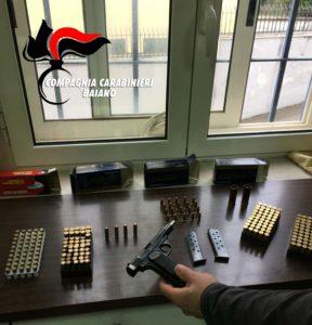 munizioni, pistola, denuncia