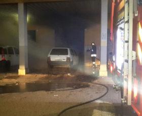 Autocarro in fiamme a Serino