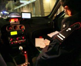 LADRI IN FUGA, CARABINIERI RECUPERANO AUTO RUBATA