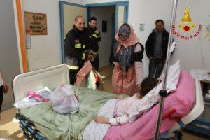 Befana Vigili del fuoco all'ospedale Moscati