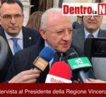 Solofra, Intervista al Presidente della Regione Campania Vincenzo De Luca
