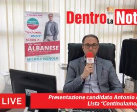"""Presentazione candidato Antonio Albanese lista """"Continuiamo, Solofra"""""""