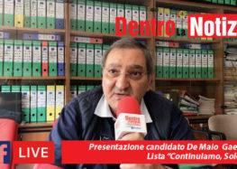 """Presentazione candidato Gaetano De Maio lista """"Continuiamo, Solofra"""""""