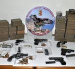 Pontecagnano. La Polizia sequestra 42 kg di hashish e 6 pistole. Arrestato T.F. 50enne del posto