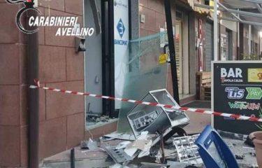 Montoro. Fanno esplodere il bancomat a Piazza di Pandola, ingente il bottino