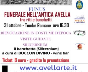 """Avella. Il 31 ottobre la rievocazione in costume d'epoca: """"Funnus, il funerale nell'antica roma."""""""