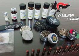 Montoro (Av) – 35enne sorpreso in possesso di stupefacenti, anabolizzanti e munizionamento