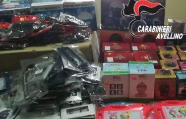Avellino: prodotti Natalizi contraffatti, continuano i sequestri