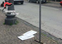 Montoro (AV)- A colpi di spranga danneggia cartelli stradali: 40enne bloccato e denunciato dai Carabinieri
