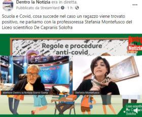 Scuola e Covi. cosa succede nel caso un ragazzo viene trovato positivo, ne parliamo con la prof.ssa Stefania Montefusco