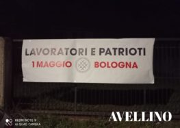 """LAVORATORI E PATRIOTI"""", STRISCIONI DEL MOVIMENTO NAZIONALE VERSO IL 1^ MAGGIO A BOLOGNA"""