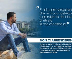 Andrea Antonio Sabatino ritira la sua candidatura: Salerno non è una città per i giovani