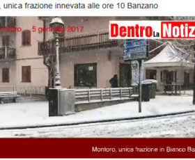 Prima neve dell'anno a Banzano