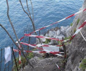 Costiera Amalfitana: sequestrata discesa a Mare abusiva