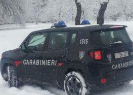 Bagnoli Irpino (Av). Bloccati dalla neve, soccorsi dai Carabinieri Forestali