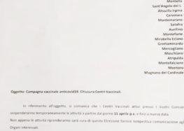 L'Asl sospende il piano vaccinale anche a Montoro e Solofra