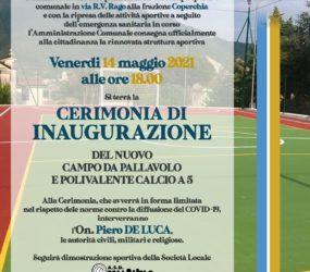 Inaugurato il nuovo impianto sportivo polivalente alla frazione Coperchia