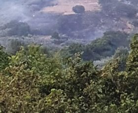 I cacciatori della Federcaccia sventano un incendio sul monte Salto